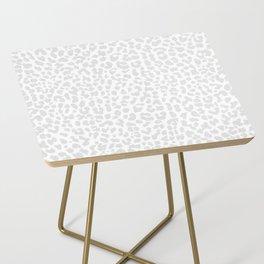 Pale Gray Leopard Side Table