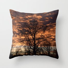 Sky on Fire in Tennessee Throw Pillow