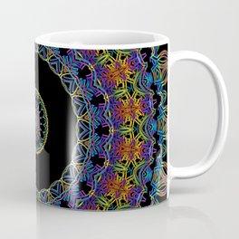 Rainbow Doodle Mandala Coffee Mug