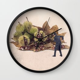 The chestnut burr remover Wall Clock