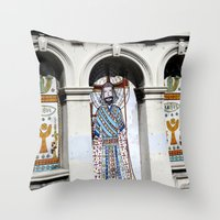 religion Throw Pillows featuring religion by Hannah