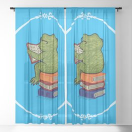 Frog Fiction Sheer Curtain