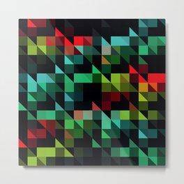 Diagonal Stripes Metal Print