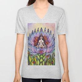 Lotus Goddess Unisex V-Neck