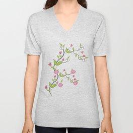 Branch of flowers Unisex V-Neck