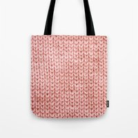 knit Tote Bags featuring Knit by Melissa Jackson