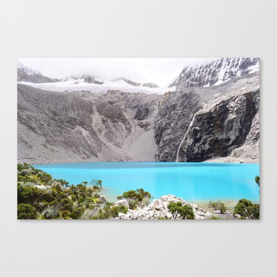 Blue Water Mountains Canvas Print