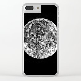Moon 2 Clear iPhone Case