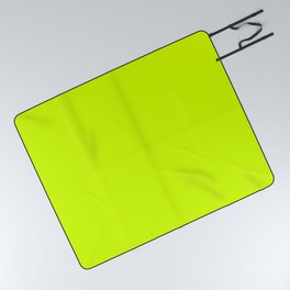 Bright green lime neon color Picnic Blanket