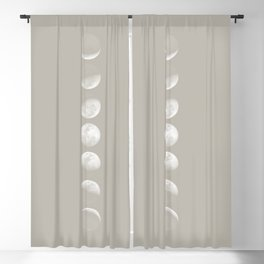 Moon Phases in Shark Skin Blackout Curtain