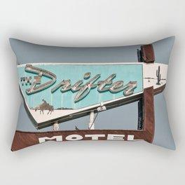 Vintage Neon Sign - The Drifter Rectangular Pillow