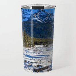 Mount Kerkeslin in Jasper National Park, Alberta Travel Mug