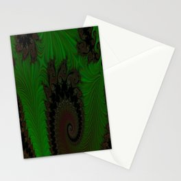 Feathered Friends In Green Stationery Cards