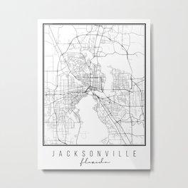 Jacksonville Florida Street Map Metal Print