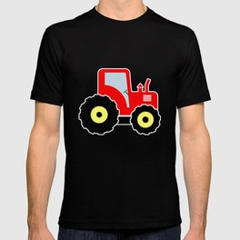 Red toy tractor T-shirt
