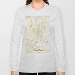 Austin Map Gold Long Sleeve T-shirt