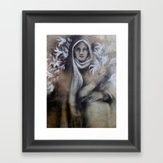 Madonna of the lilies Framed Art Print
