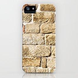 Captain Cooks Cottage. Fitzroy Gardens. Melbourne. Australia. Detail of Sandstone Wall. iPhone Case