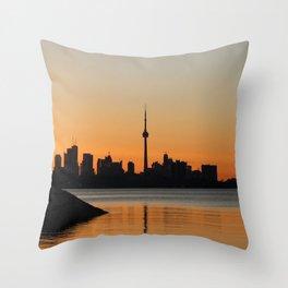 Toronto Sunrise Throw Pillow