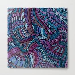 Boho Carnivale Pattern 2 Metal Print