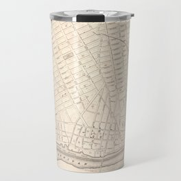 Vintage Map of New Brunswick NJ (1837) Travel Mug
