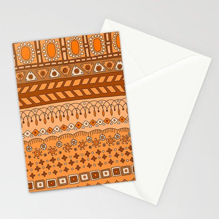 Yzor pattern 008 warm Stationery Cards