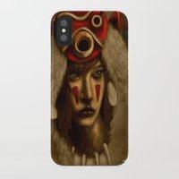 princess mononoke iPhone & iPod Cases featuring Mononoke by Debono Art