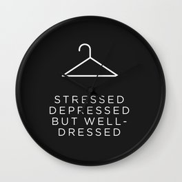 Well Dressed (Black) Wall Clock