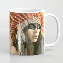 Indian woman in headdress Coffee Mug