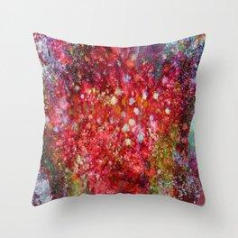 Red Moss Throw Pillow