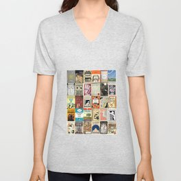 Virginia Woolf Book Covers Unisex V-Neck