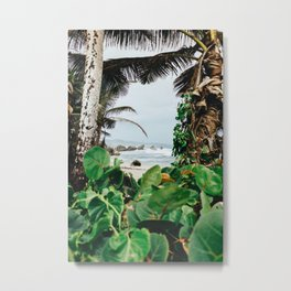 The surfer's spot in Barbados Metal Print