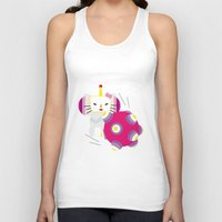 katamari Tank Tops featuring Katamari Kitty by Martine Verfaillie