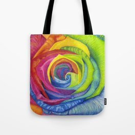 Rainbows of Roses Tote Bag
