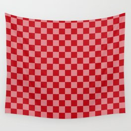 Holly Berry Checkerboard Wall Tapestry