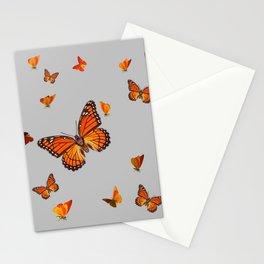 FLOCK OF ORANGE MONARCH BUTTERFLIES ART Stationery Cards
