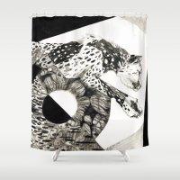 cheetah Shower Curtains featuring Cheetah by artkarolina