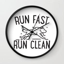 Run fast, run clean - Agility Wall Clock