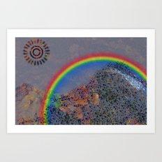 Mountain Series - Rainbow Art Print