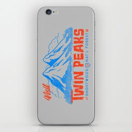 Visit Twin Peaks (orange) iPhone Skin