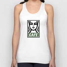 Cafe Poster Unisex Tank Top
