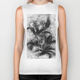 black and white lilies Biker Tank