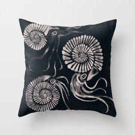 ammonites Throw Pillow