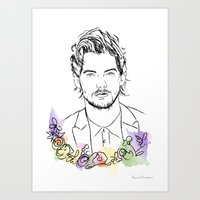 louis tomlinson Art Prints featuring Louis Tomlinson by Mariam Tronchoni