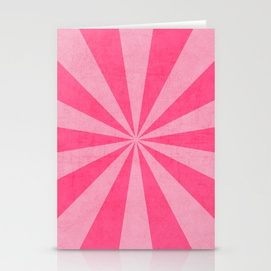 pink and hot pink starburst Stationery Cards