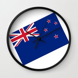 National flag of New Zealand - Authentic version to scale and color Wall Clock