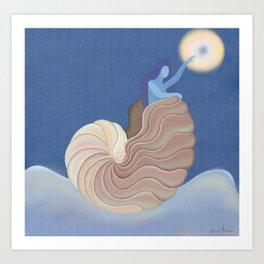 Caracola, sol y mar  Art Print