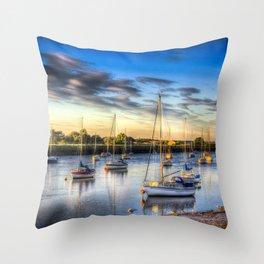 River at Sunset Throw Pillow