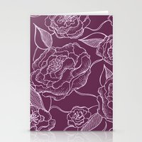 floral pattern Stationery Cards featuring Floral Pattern by Vickn