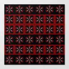Dark tiled pattern Canvas Print